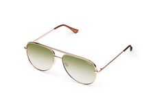 QUAY 'High Key Mini' Sunglasses Rose/GreenFade