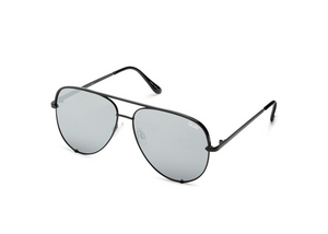 QUAY 'High Key Mini' Sunglasses Black/Silver
