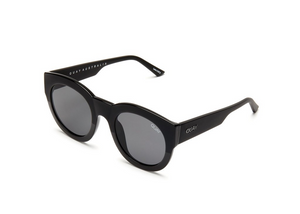 QUAY 'If Only' Sunglasses Black/Smoke