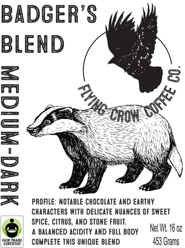 Badger's Blend FTO - Medium-Dark Roast - One Pound
