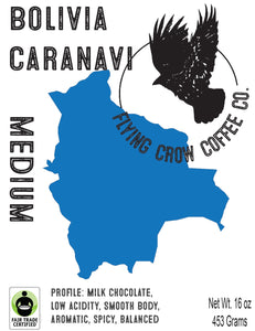 Bolivia Colonial Caranavi FTO - Medium Roast - One Pound