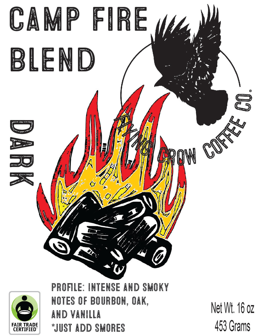Camp Fire Blend FTO - Dark Roast - One Pound