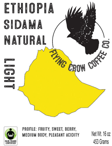 Ethiopian Sidama Natural FTO - Light Roast - One Pound