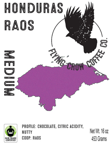 Honduras RAOS FTO - Medium Roast - One Pound