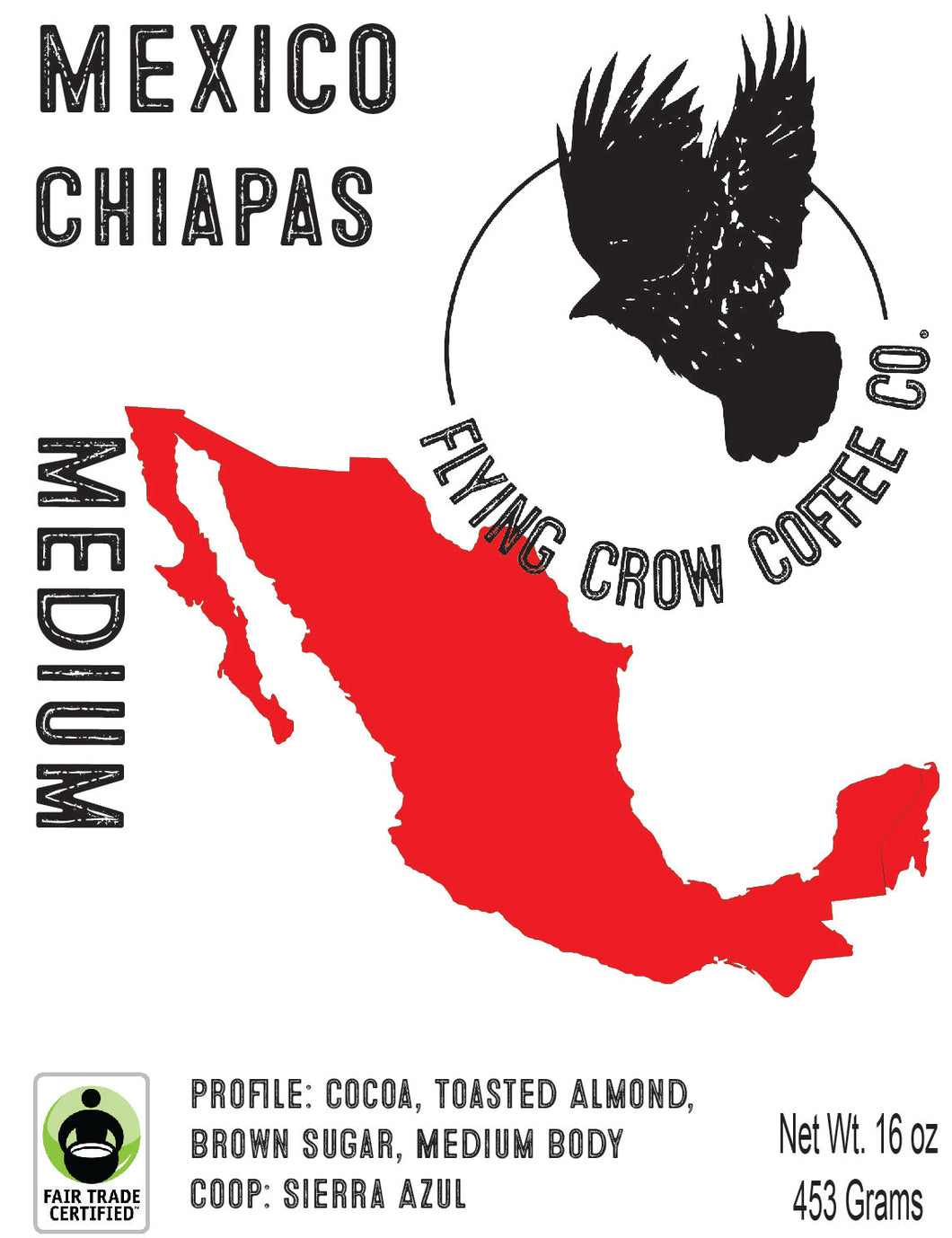 Mexican Chiapas - Sierra Azul Coop - FTO - Medium Roast - One Pound