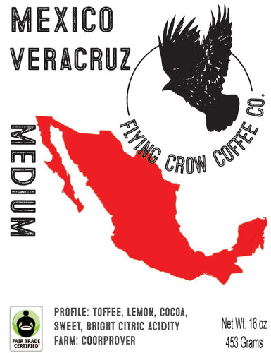 Mexico Veracruz FTO - Medium Roast - One Pound