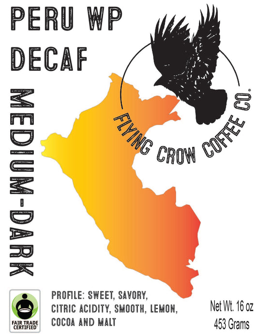 Peru WP Decaf FTO - Medium-Dark Roast - One Pound