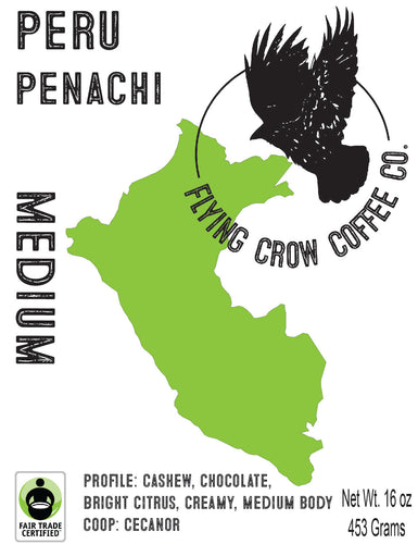 Peru Penachi FTO - Medium Roast - One Pound