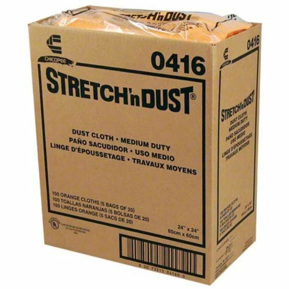 "Stretch'n Dust Medium Duty Dust Cloth 24"" X 24"" - 100/Box"