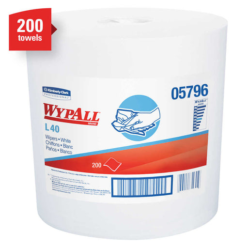 Wypall L40 Centrepull Wipers - 2 Rolls X 200 Sheets
