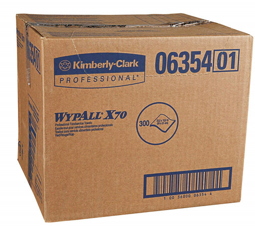 06354 Wypall X70 Foodservice Wipers White/Red - 300/Box