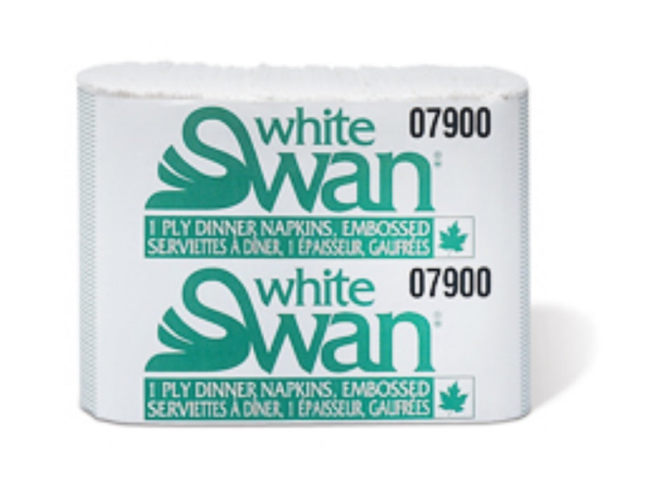 White Swan Dinner Napkins - 1 Ply