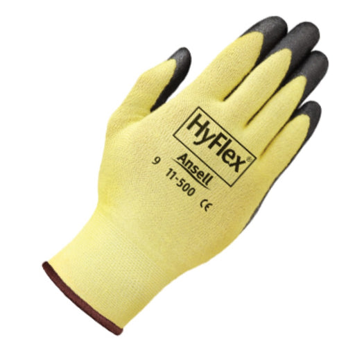 Ansell Hyflex Gloves with Foam Nitrile Palm 11-500 - 12 Pairs/Pack