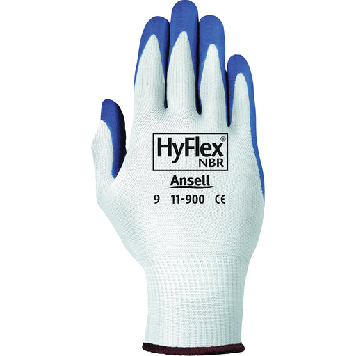 Ansell Hyflex Blue Nitrile Palm Coated Gloves 11-900 - 12 Pairs/Pack