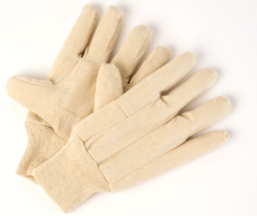Men's Cotton Canvas Gloves 13 oz. with Knit Wrist - 12 Pairs/Pack