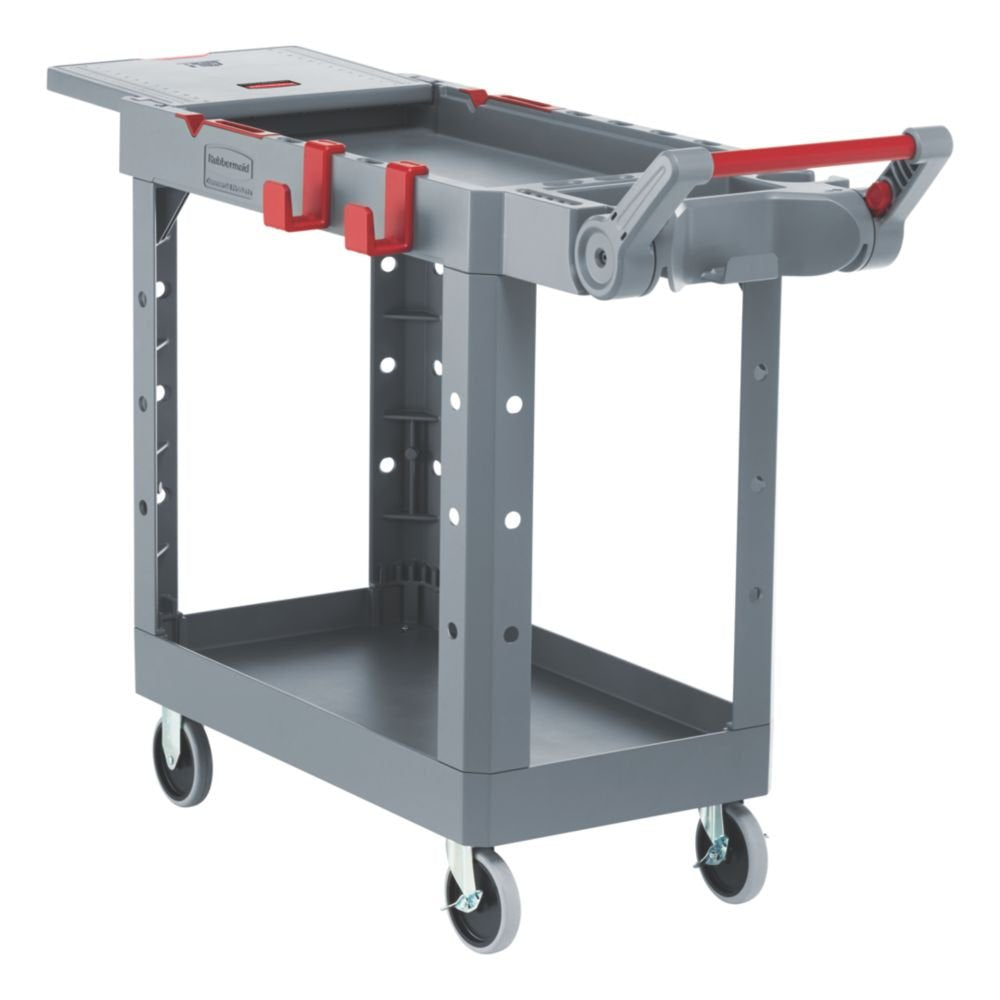 Rubbermaid Small Adaptable Heavy Duty Utility Cart Gray