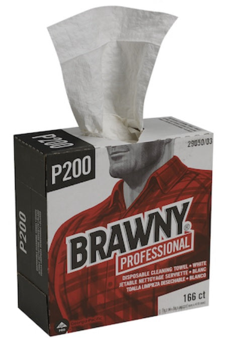 GP PRO Brawny Professional P200 Disposable Cleaning Towel - 5 Packs x 166 Sheets