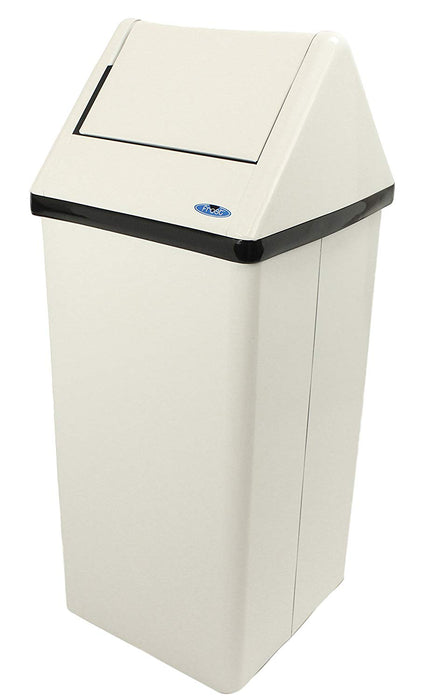 Frost Free Standing Waste Receptacle White - 21 Gallon