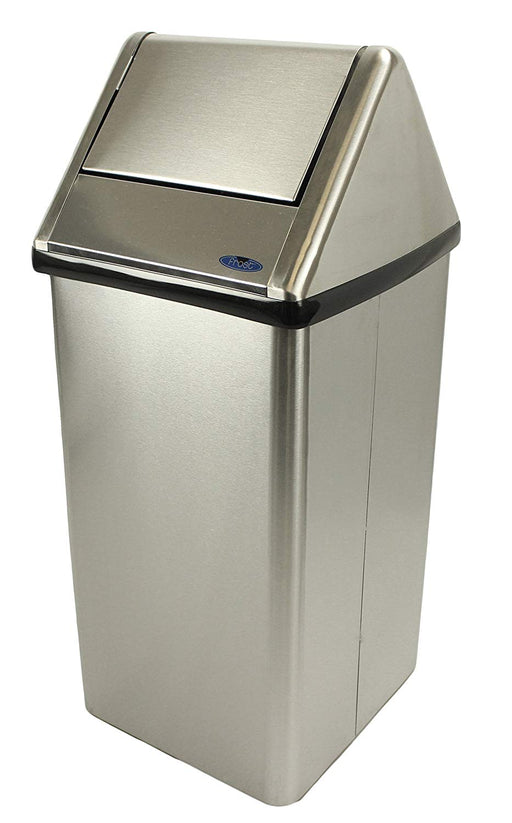 Frost Free Standing Waste Receptacle Stainless Steel - 21 Gallon