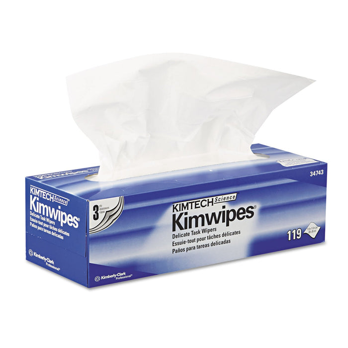Kimwipes Delicate Task Kimtech Science Wipers White, 3-PLY - 15 Boxes X 119 Sheets