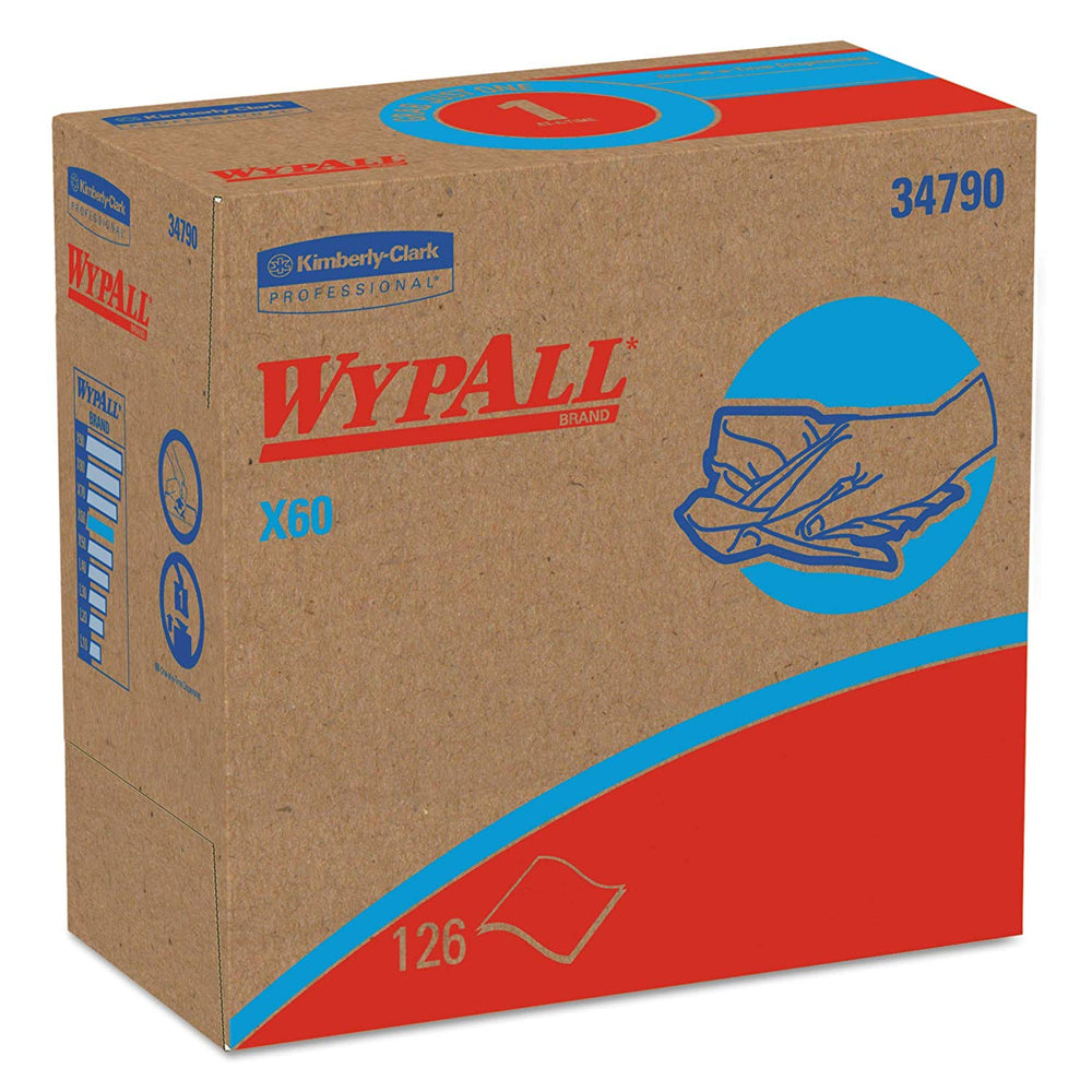 "Wypall X60 Wipers 9.1"" X 16.8"" - 10 X 126 Wipers/Box"