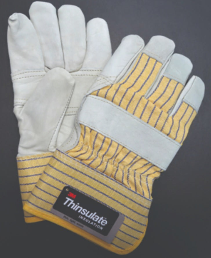 Men's Palm Patch Lined with 3M Thinsulate Leather Fitters Glove - 12 Pairs/Pack