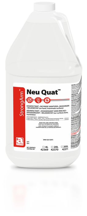 Neu Quat Disinfectant/No Rinse Sanitizer - Health Canada Covid Disinfectant Approved