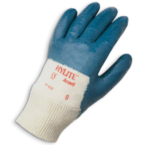 Ansell Hylite Nitrile Palm Coated Gloves with Knit Wrist 47-400 - 12 Pairs/Pack
