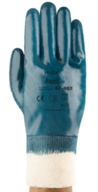 Ansell Hylite Fully Nitrile Coated Gloves with Knit Wrist 47-402 - 12 Pairs/Pack