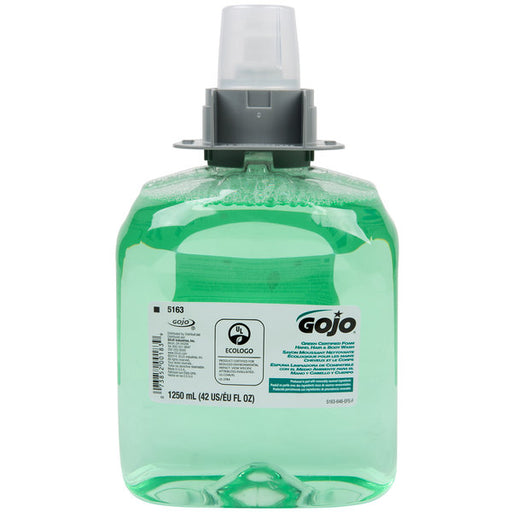 Gojo Green Certified Foam Hand, Hair & Body Wash - 3 X 1250 mL