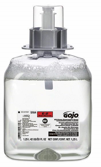 GOJO E2 Foam Sanitizing Soap - 3 X 1250 mL