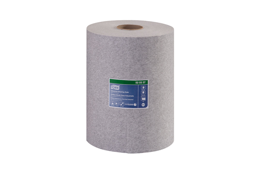 Tork Industrial Cleaning Wipers Centerfeed Gray - 1 Roll X 500 Sheets