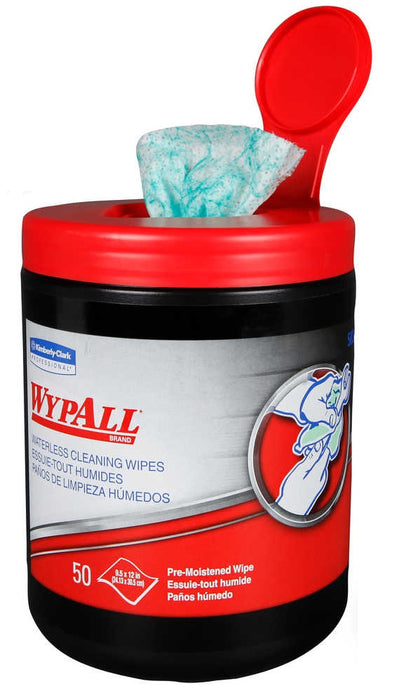 Wypall Waterless Cleaning Wipes - 8 X 50 Sheets