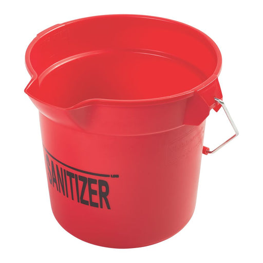 Rubbermaid Sanitizer Red Round Bucket - 10 qt