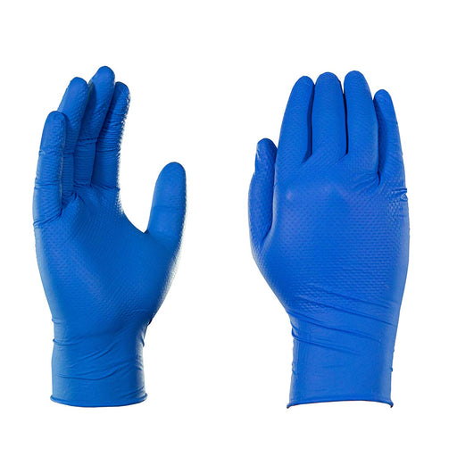 Gloveworks Heavy Duty Industrial 6 Mil Royal Blue Nitrile Gloves - 10 Boxes/Case