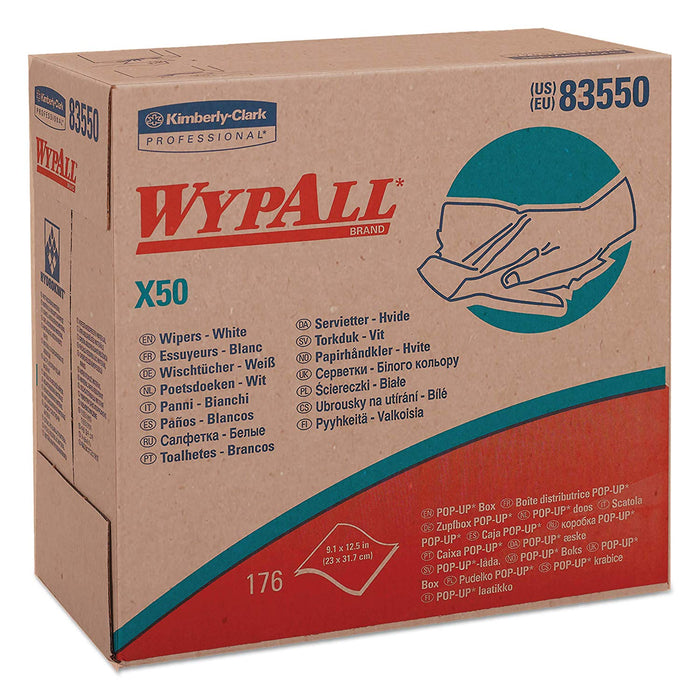 83350 Wypall X50 White - 10 Boxes X 176 Sheets
