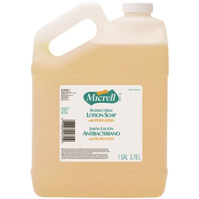 Micrell Antibacterial Lotion Soap with Chloroxylenol- 4 X 1 Gallon