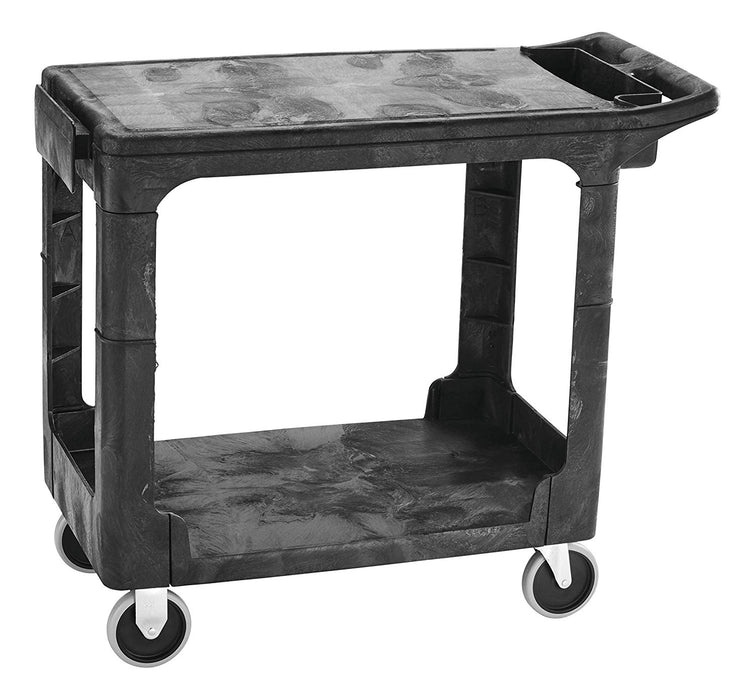 Rubbermaid Small Flat Shelf Heavy Duty Utility Cart Black