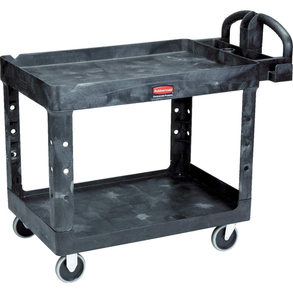 Rubbermaid Medium Heavy Duty Utility Cart with Ergo Handles