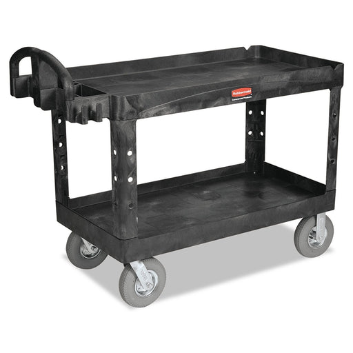 Rubbermaid Large Heavy Duty Utility Cart with Ergo Handles Black