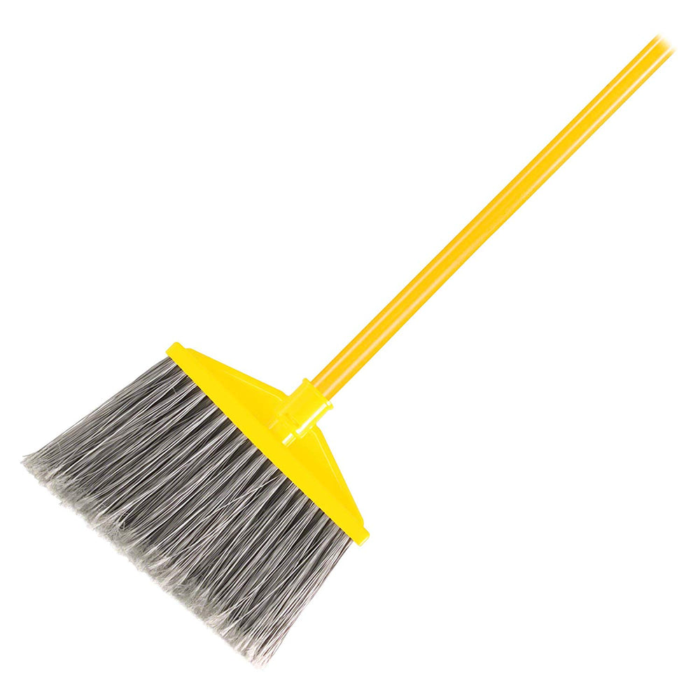 Rubbermaid 10.5 Inch Angle Broom with Flagged Polypropylene Fill