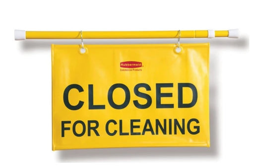 "Rubbermaid ""Closed for Cleaning"" Hanging Doorway Sign"