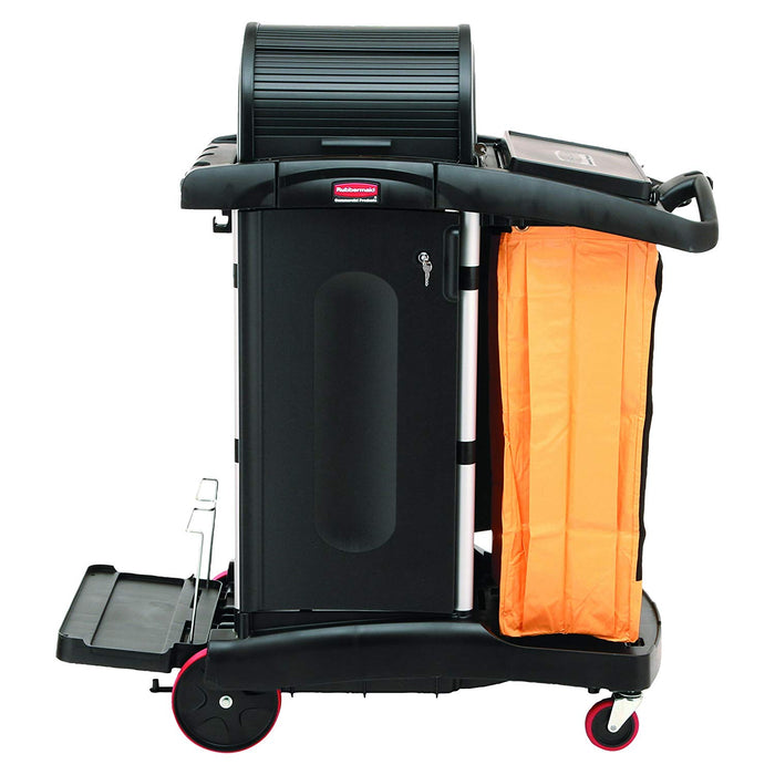 Rubbermaid High Security Janitor Cleaning Cart with Doors and Hood
