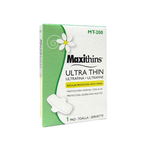 Hospeco Maxithins Ultra Thin With Wings Coin Vending Maxi Pads
