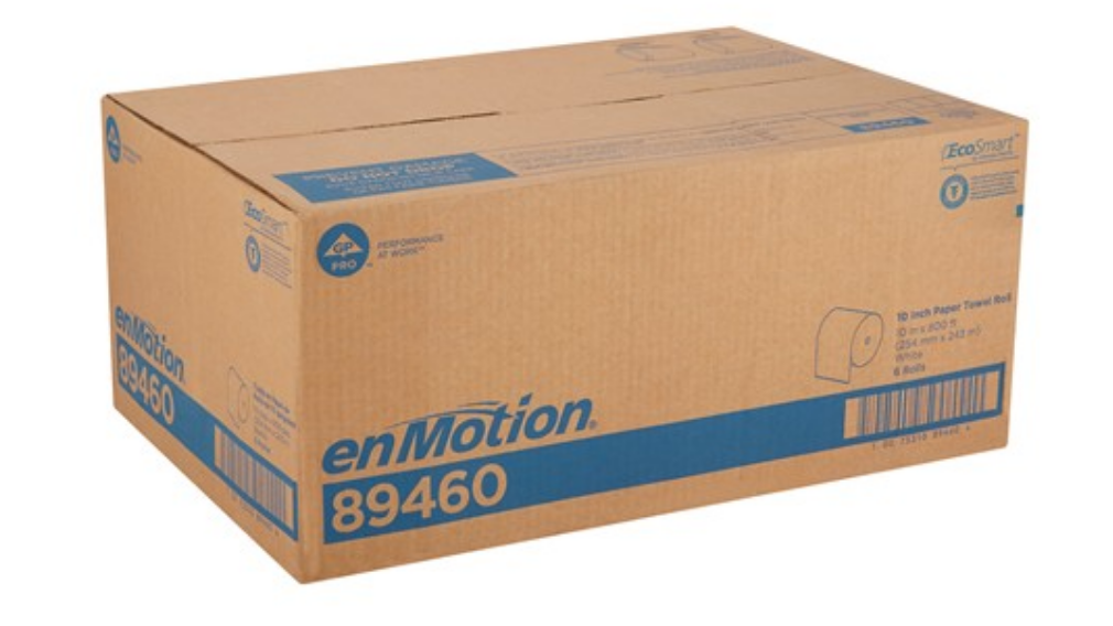 Box of Georgia Pacific Pro Enmotion Paper Towels