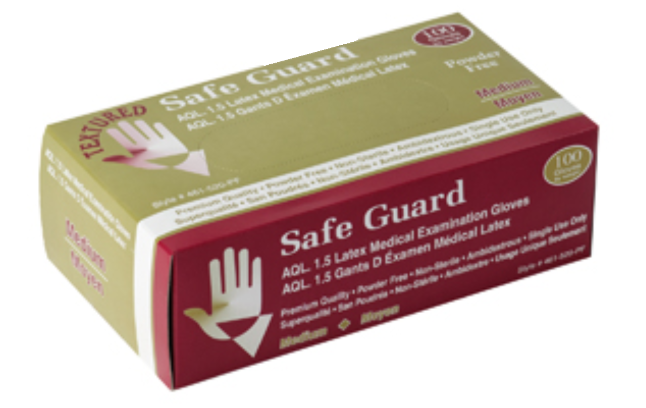 Safeguard Disposable Powder Free Latex Gloves (Medical Grade) - 10 Boxes/Case