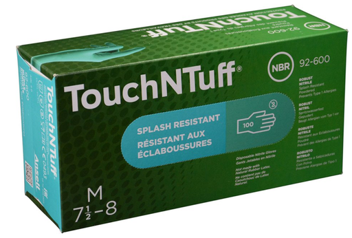 Ansell 92-600 TouchNTuff Powder Free 5 Mil Nitrile Gloves - 10 Boxes/Case