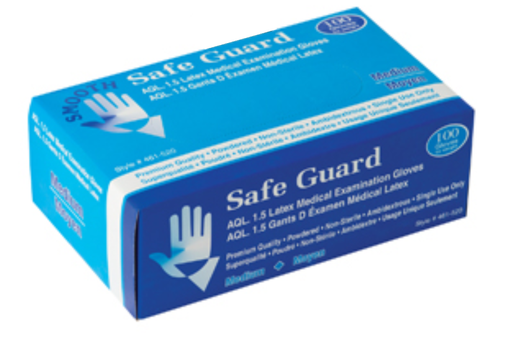Safeguard Disposable Powdered Latex Gloves (Medical Grade) - 10 Boxes/Case