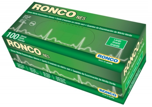 Ronco NE5 5 Mil Powder Free Nitrile Gloves (Medical Grade) - 10 Boxes/Case