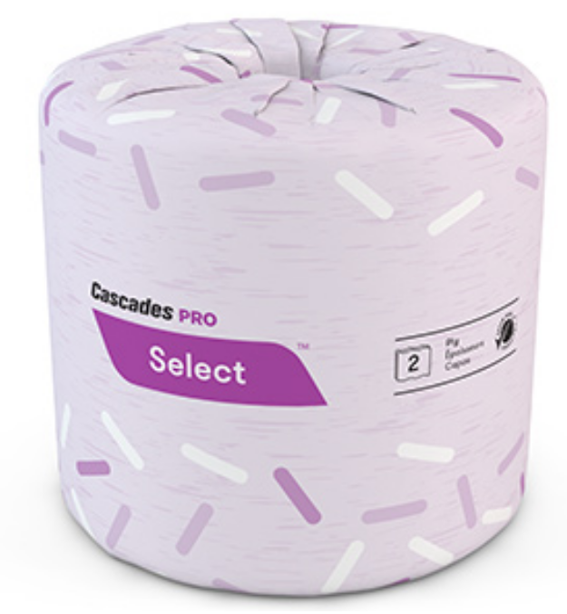 Roll of Cascades Pro Select Toilet Paper